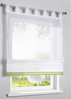 Римская штора Джой, петли (белый/зеленый) Bonprix