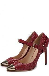 Кожаные туфли Valentino Garavani Rockstud Spike на шпильке Valentino