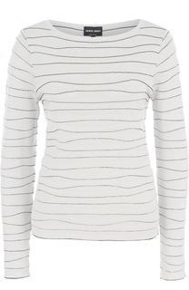 Пуловер из вискозы с вырезом-лодочка Giorgio Armani