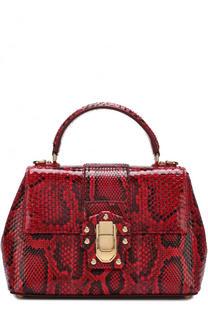 Сумка Lucia из кожи питона Dolce & Gabbana