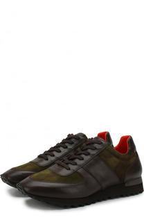 Комбинированные кроссовки на шнуровке Ralph Lauren