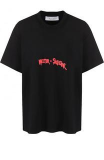 Хлопковая футболка свободного кроя с надписью Iro
