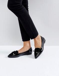 Туфли на плоской подошве с острым носом Miss KG - Черный
