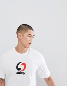 Футболка с 2-цветным логотипом Stussy - Белый