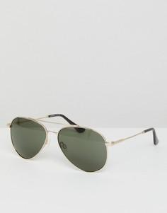Солнцезащитные очки-авиаторы в золотистой оправе Esprit - Золотой