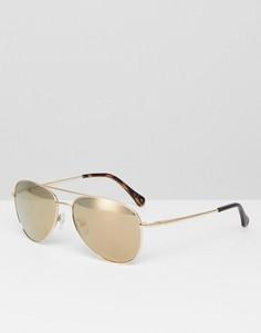 Солнцезащитные очки-авиаторы Ted Baker TB1457 404 Nova - Золотой