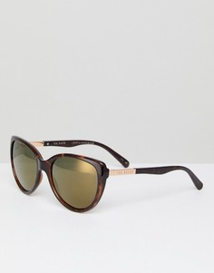 Солнцезащитные очки кошачий глаз в черепаховой оправе Ted Baker TB1446 122 Belle - Коричневый