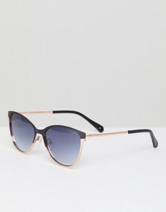 Черные солнцезащитные очки кошачий глаз Ted Baker TB1500 004 Mila - Черный