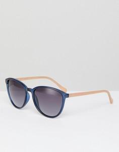 Круглые солнцезащитные очки темно-синего цвета Ted Baker TB1442 651 Tierney - Темно-синий