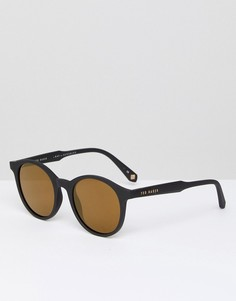 Черные круглые солнцезащитные очки Ted Baker TB1503 001 Odell - Черный
