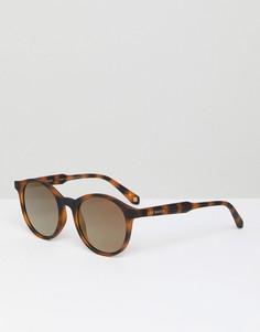 Круглые солнцезащитные очки в черепаховой оправе Ted Baker TB1503 173 Odell - Коричневый