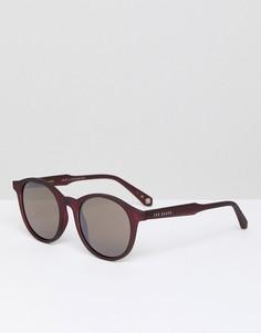 Бордовые круглые солнцезащитные очки Ted Baker TB1503 200 Odell - Красный