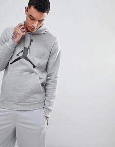 Худи из флисовой ткани серого цвета Nike Jordan Flight AH4507-063 - Серый