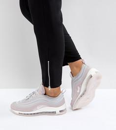 Розовые бархатные кроссовки Nike Air Max 97 Ultra 17 - Розовый