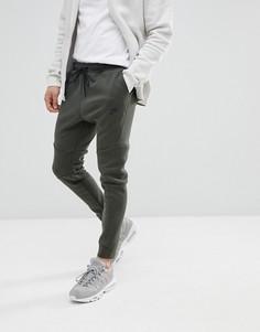 Зеленые узкие флисовые джоггеры Nike Tech 805162-355 - Серый