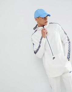 Худи белого цвета с лентой и короткой молнией Nike AJ2296-133 - Белый