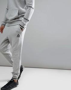 Серые брюки с логотипом Reebok Training CD7021 - Серый