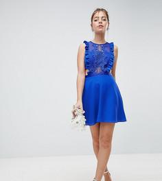 Платье мини с кружевом ASOS DESIGN Petite - Синий