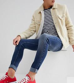Выбеленные супероблегающие джинсы Just Junkies - Синий