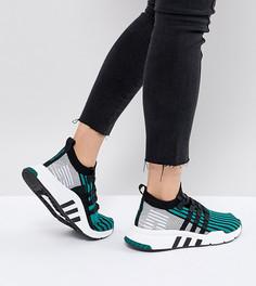 Женские зеленые кроссовки adidas Originals EQT Support Mid Adv - Зеленый