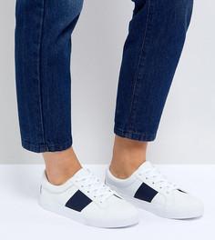 Кроссовки на шнуровке для широкой стопы ASOS DINELLA - Белый