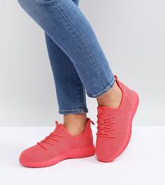 Кроссовки для широкой стопы ASOS DEDICATE - Розовый