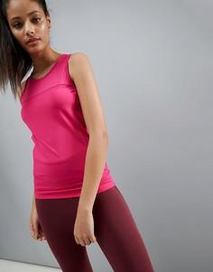 Спортивная трикотажная майка со швами ASOS 4505 - Розовый