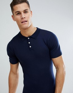Трикотажная футболка-поло Bellfield - Темно-синий