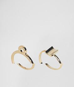 2 кольца ограниченной серии - Золотой Asos