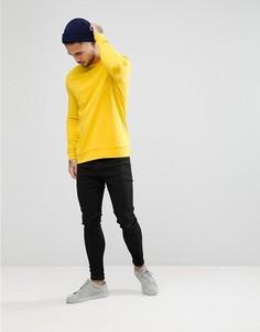 Желтый обтягивающий свитшот ASOS - Желтый