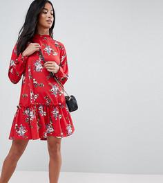 Свободное платье с цветочным принтом ASOS DESIGN Petite - Мульти