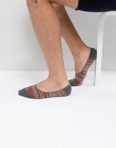 Невидимые носки в полоску BOSS By Hugo Boss - Серый