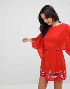 Пляжное платье с вышивкой ASOS - Красный