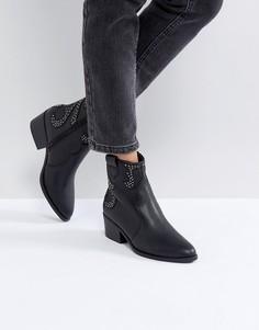 Ботинки с отделочными швами в стиле вестерн New Look - Черный