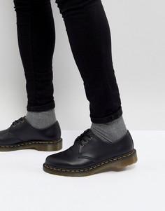 Туфли с 3 парами люверсов Dr Martens 1461 Vegan - Черный