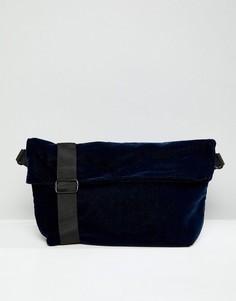 Бархатная сумка Weekday - Темно-синий