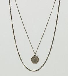 2 ожерелья-цепочки с подвеской Reclaimed Vintage Inspired эксклюзивно для ASOS - Золотой