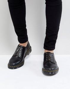 Туфли с молнией и 3 парами люверсов Dr Martens Fusion 1461 - Черный