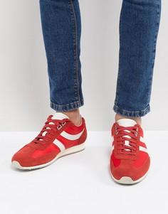 Мужские красные кроссовки из нейлона и замши BOSS - Красный