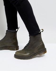 Кожаные ботинки с 8 парами люверсов Dr Martens 1460 - Коричневый