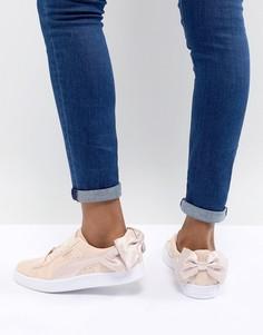 Розовые замшевые кроссовки Puma Valentines - Розовый