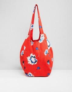 Пляжная сумка с цветочным принтом Vero Moda - Красный