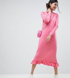Платье под брюки с оборкой ASOS TALL - Розовый