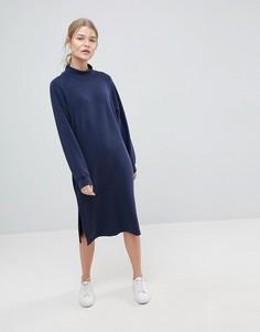 Платье с высоким воротником Selected - Темно-синий