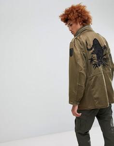 Куртка с принтом Maharishi - Зеленый