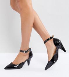 Черные лакированные туфли на каблуке-рюмочке RAID Lena - Черный