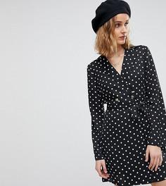 Платье-смокинг в горошек Reclaimed Vintage Inspired - Черный