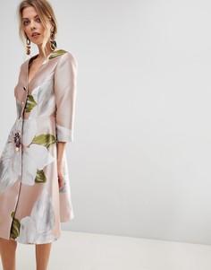 Платье в стиле пальто Ted Baker Ottie - Розовый