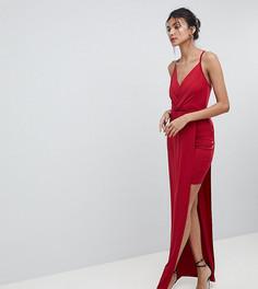 Платье мини с запахом ASOS TALL - Красный