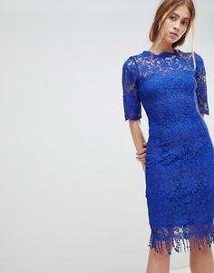 Ажурное платье с короткими рукавами Paper Dolls - Синий